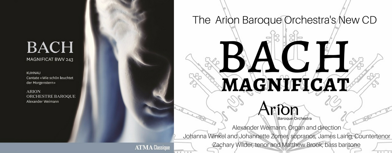 Bach Magnificat New CD   Arion Baroque Orchestra