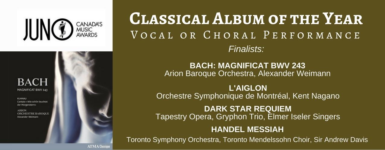 Arion finalist Juno award