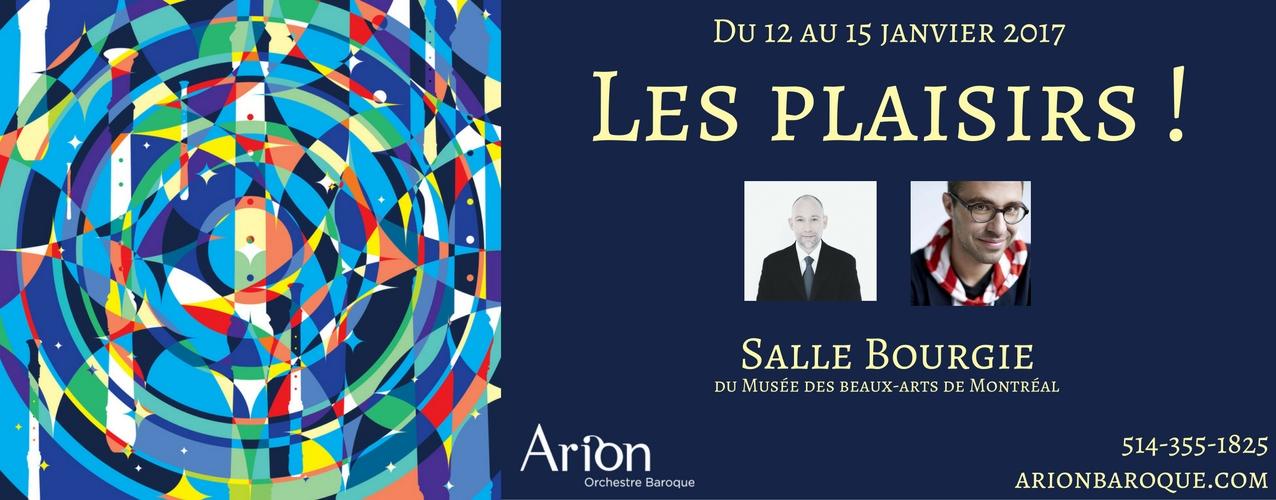 Les plaisirs! | Arion Orchestre Baroque