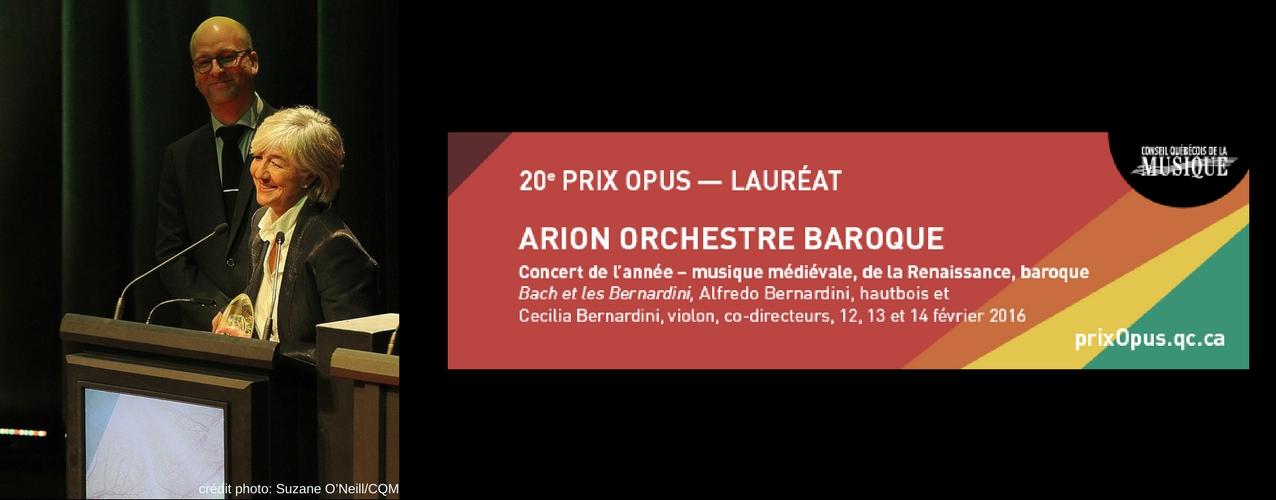 Arion Orchestre Baroque Prix Opus